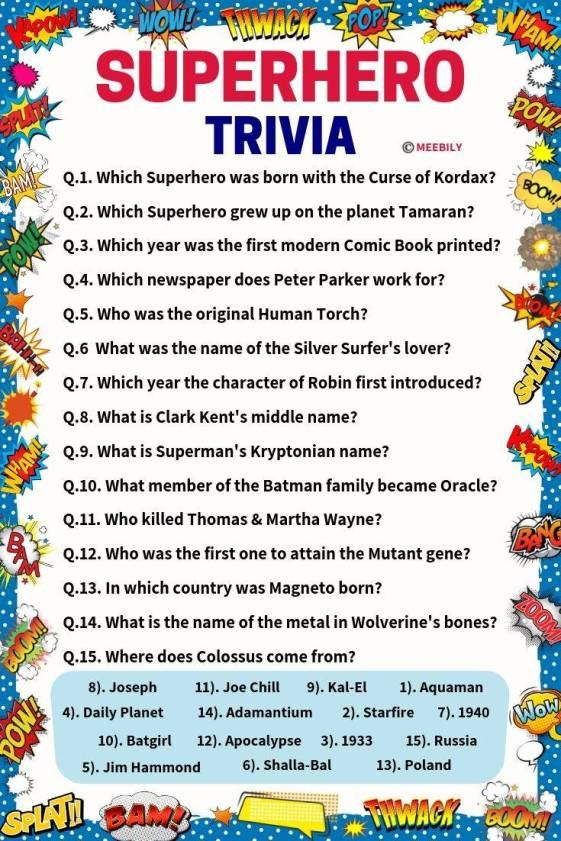 Batman Trivia Questions And Answers Printable