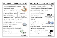 13 Questions 7 Statements True Or False Pair Work
