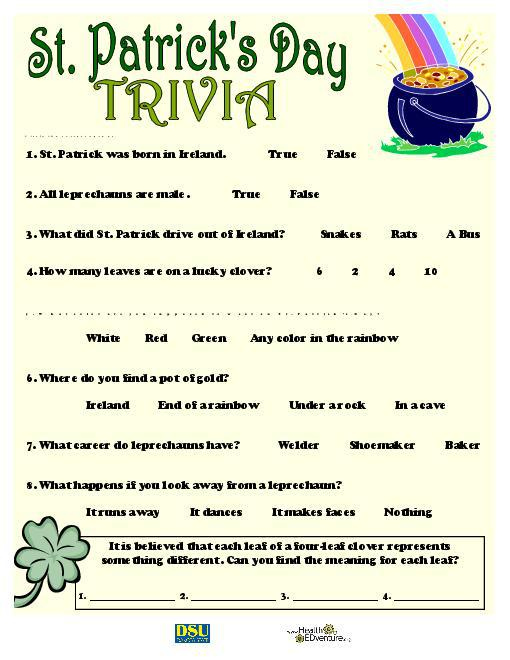 14 Engaging St Patrick s Day Trivia KittyBabyLove