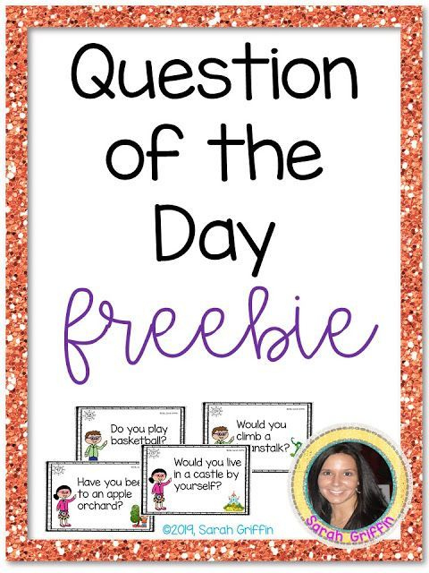 Preschool Question Of The Day Printables Free