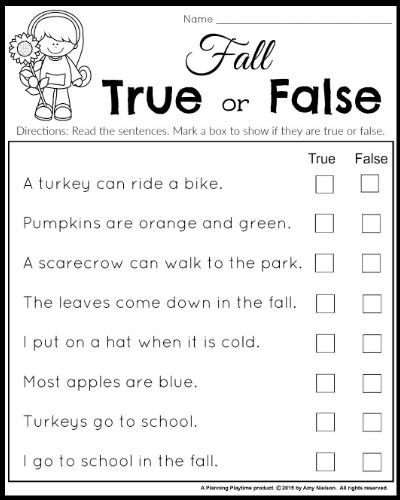 First Grade Trivia Questions Printable