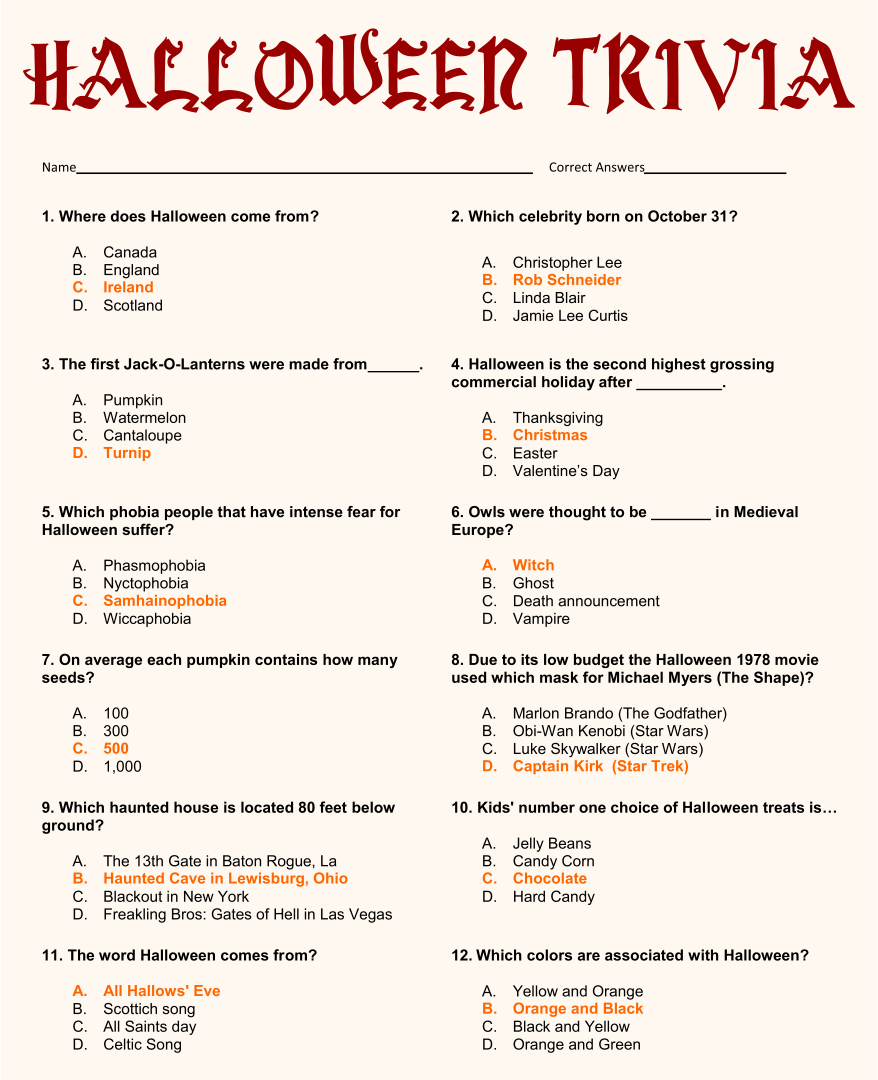 4th Grade Trivia Questions And Answers Are You Smarter