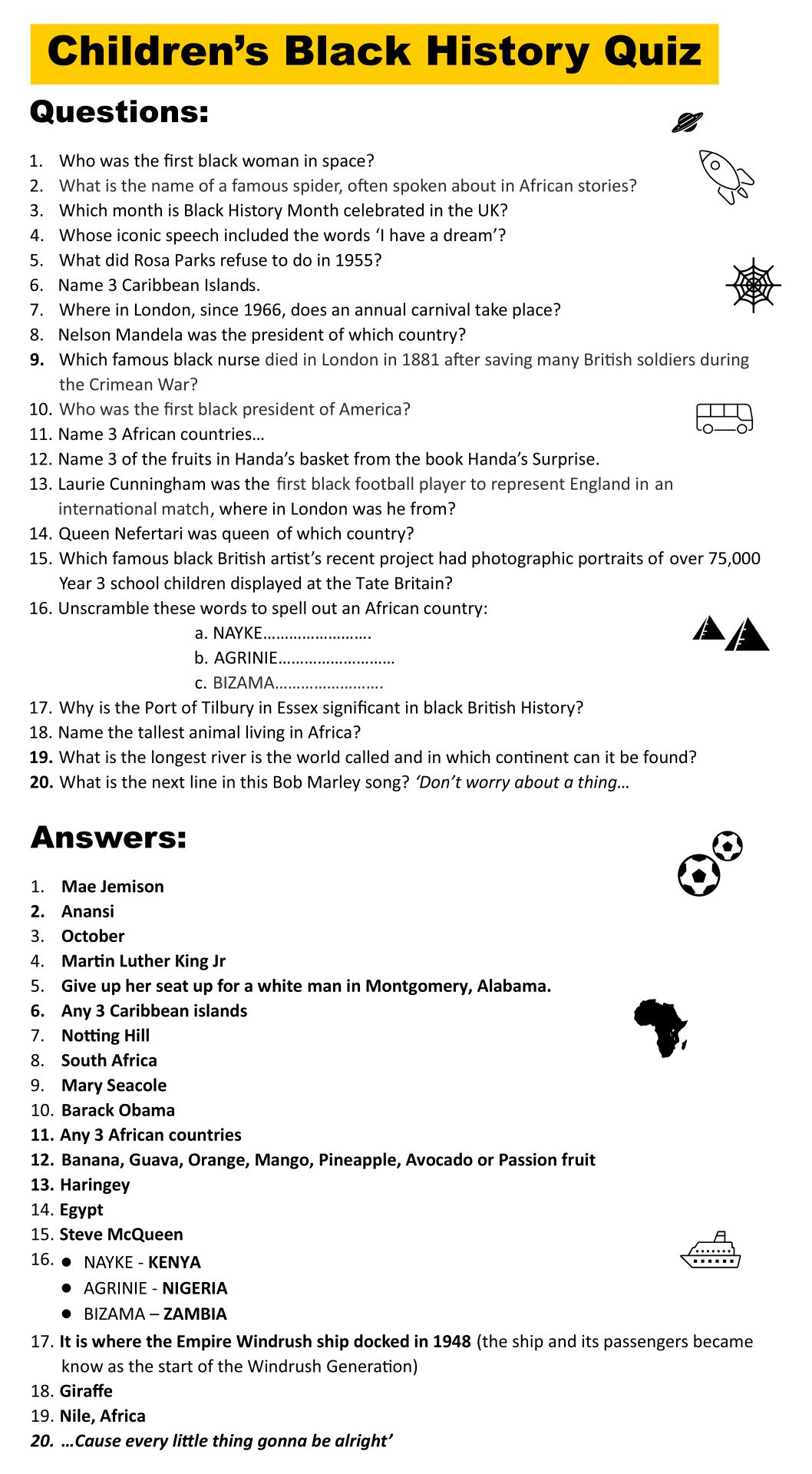 History Trivia Questions And Answers Printable