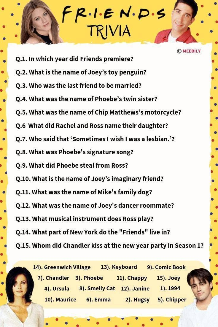 Easy Tv Trivia With Answers