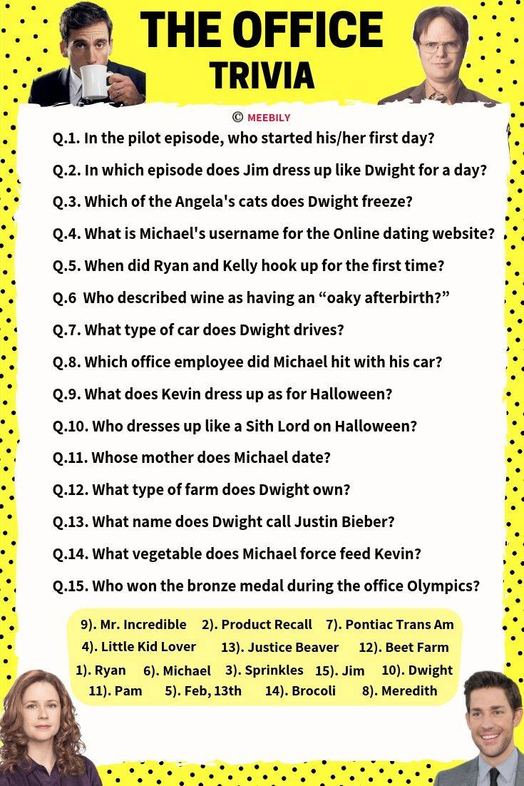 The Office Trivia Questions Printable