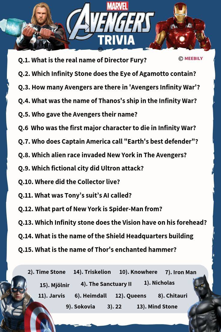 Marvel Movie Trivia Questions And Answers Printable 2018