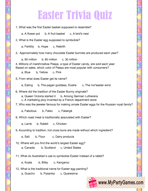 Printable Trivia Questions And Answers 2016