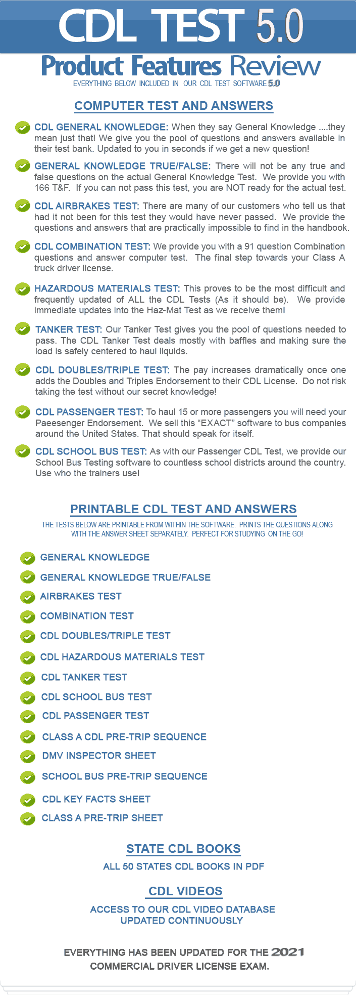 Cdl Test Questions And Answers Printable Pdf