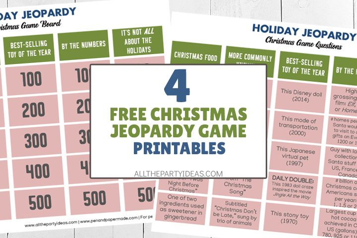 CHRISTMAS JEOPARDY Questions And Answers With Free Game