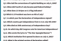 Fourth Of July Trivia Quiz Trivia Questions And Answers