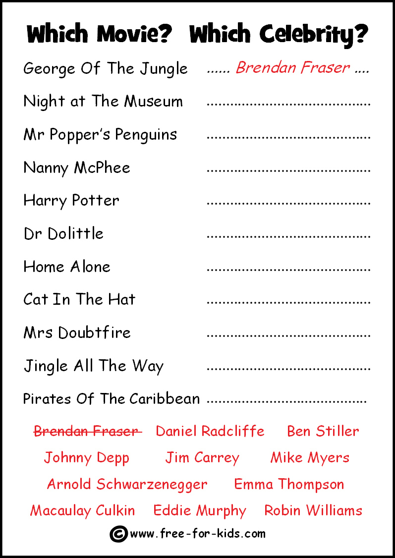 Free Printable Picture Quizzes With Answers