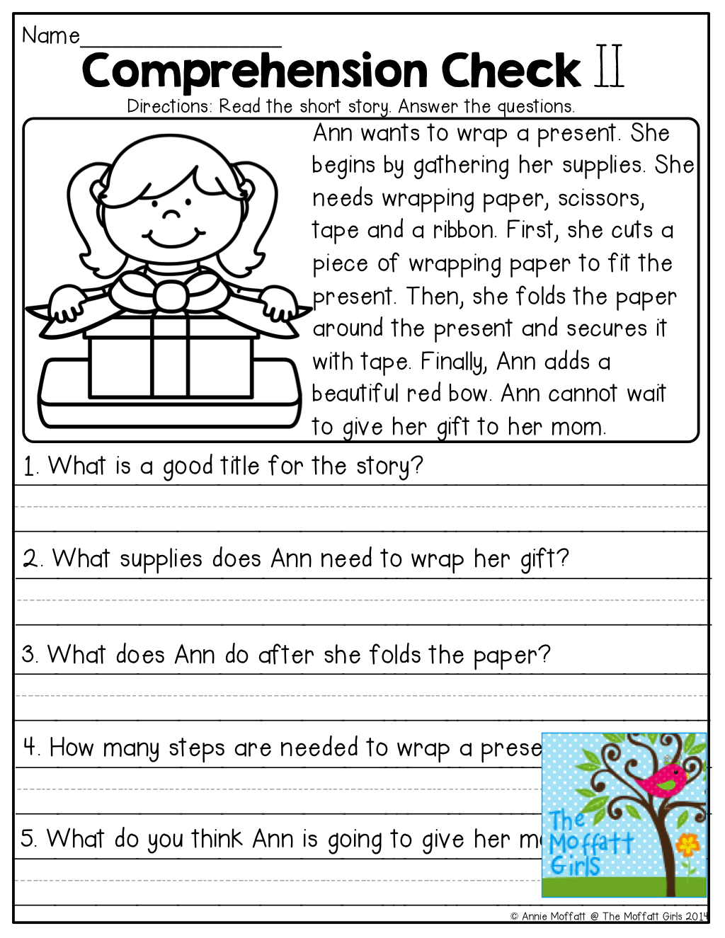 Free Printable Short Stories With Comprehension Questions
