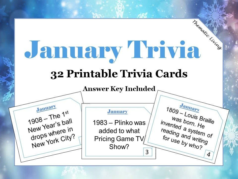 January Trivia Questions Answers Birthday