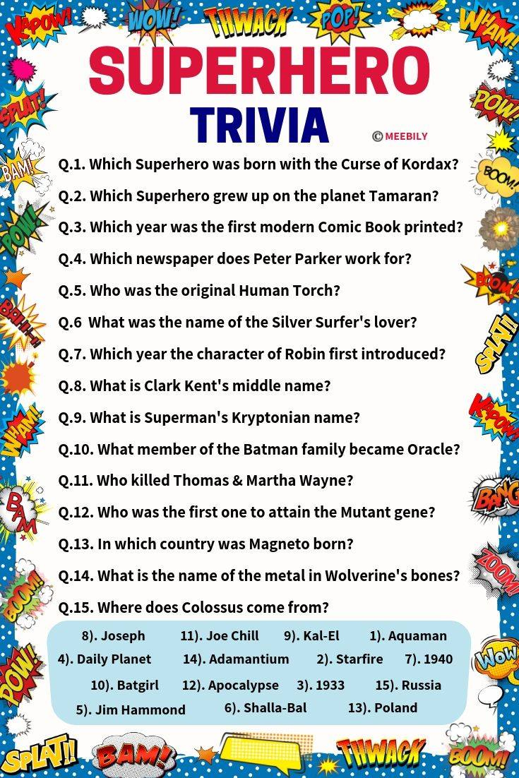 Multiple Choice Trivia Questions And Answers For Kids