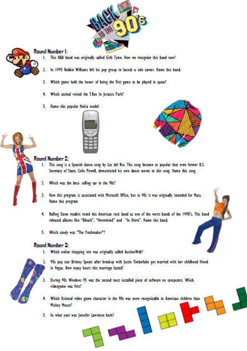 90'S Tv Trivia Questions And Answers Printable
