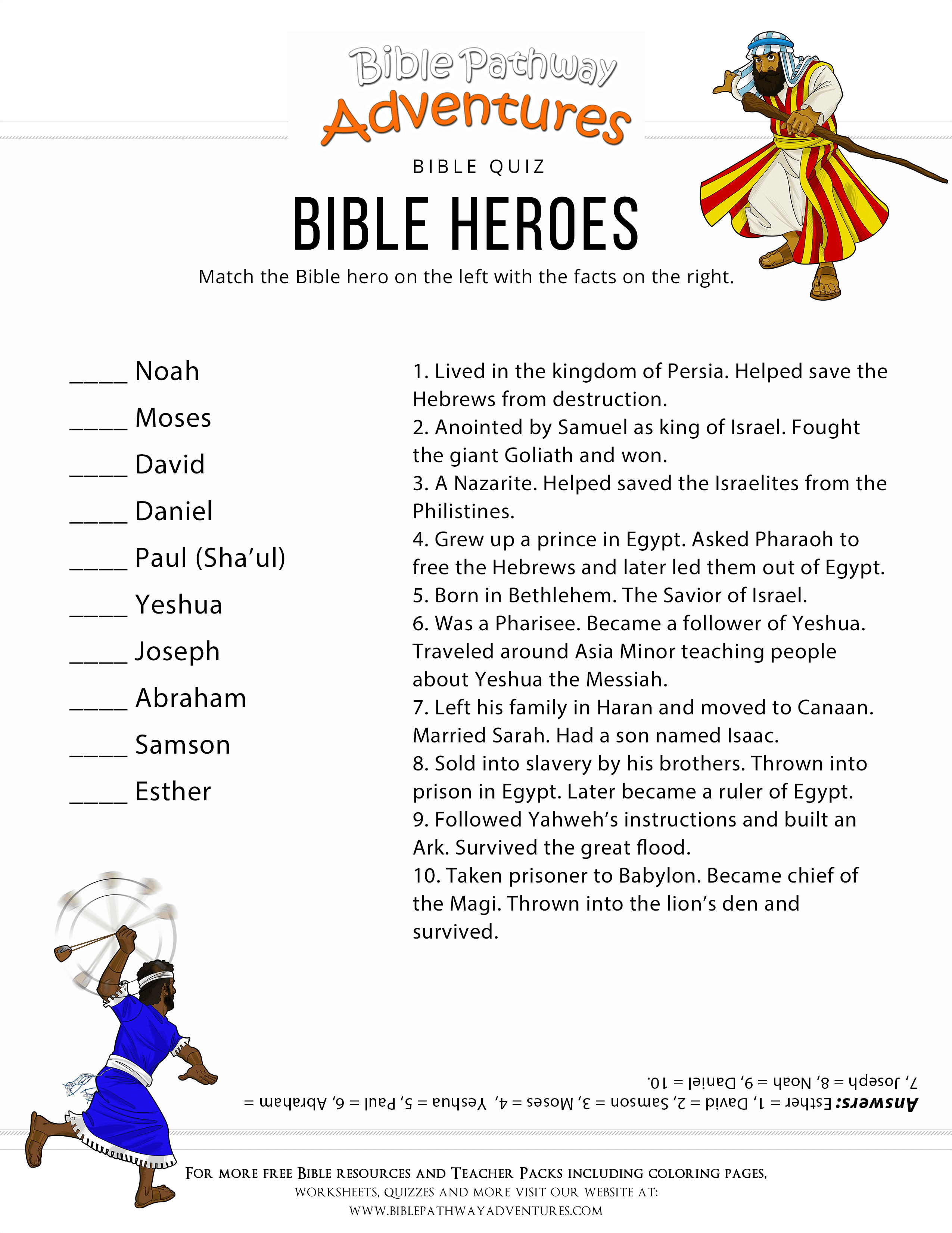 Printable Bible Trivia Questions That Are Exceptional