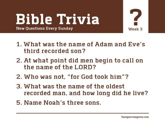 Printable King James Bible Trivia Questions And Answers
