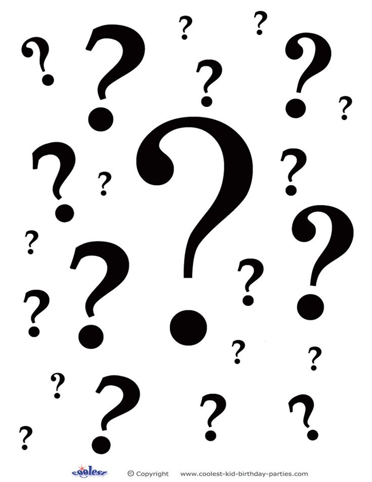 Free Printable Question Mark