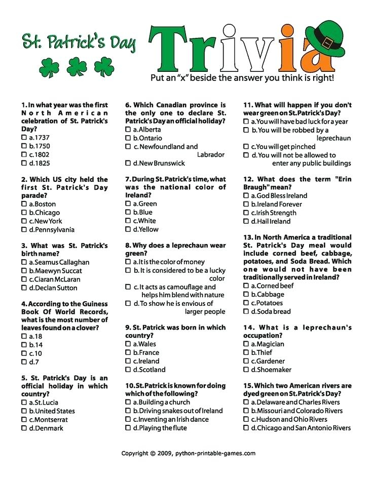 Printable Trivia Questions And Answers For Senior Citizens