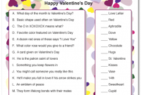 Printable Valentine Trivia A Little Of This A Little
