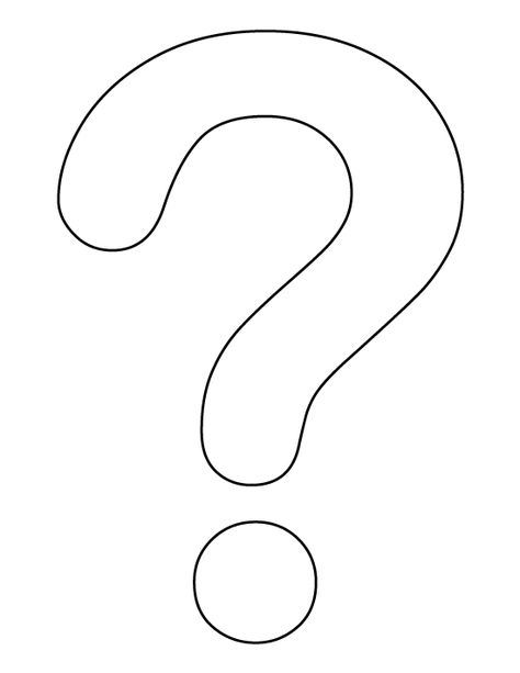 Question Mark Pattern Use The Printable Outline For