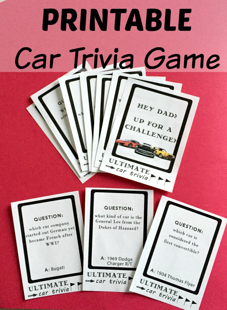 Car Trivia Questions And Answers Printable