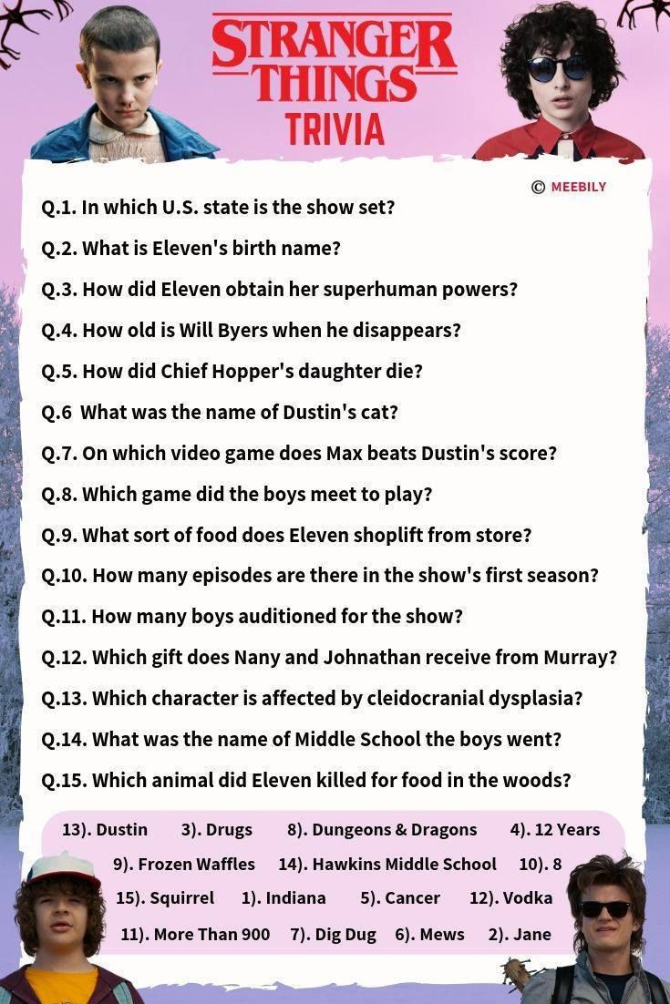 Stranger Things Trivia Questions Answers With Images