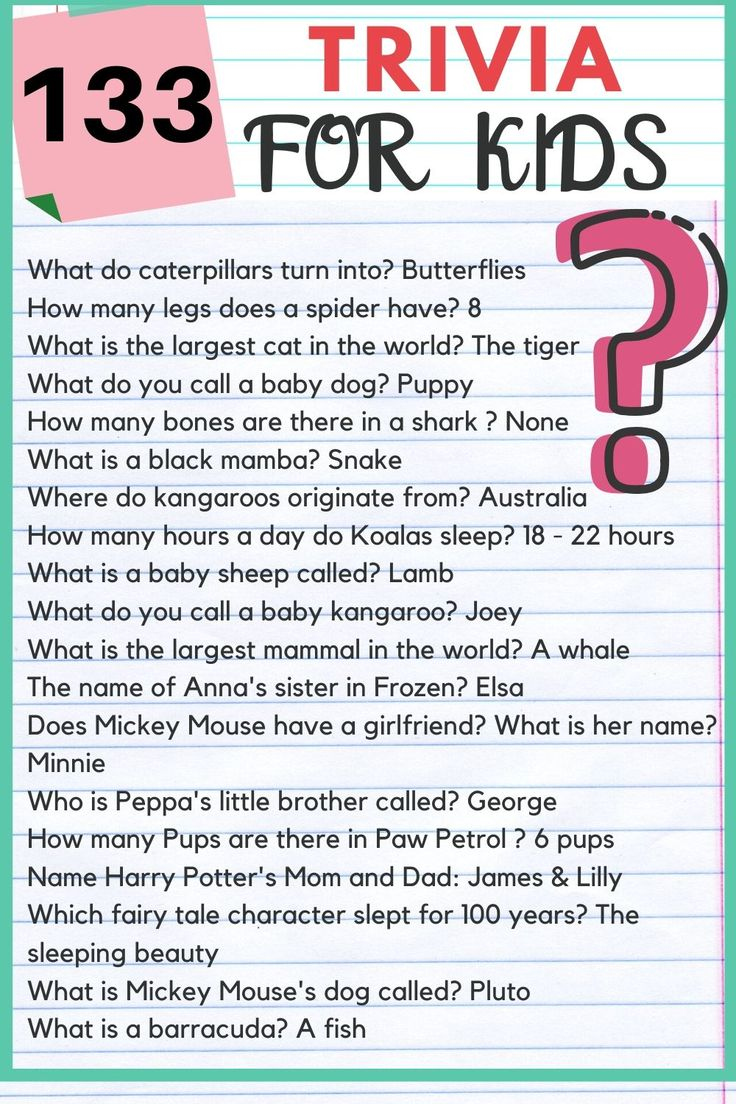 Easy Trivia Questions And Answers For Kids
